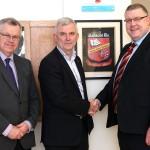 Adrian McKenna (Treasurer), Gene Leonard (Chairman) and Tom Prendergast (Principal)